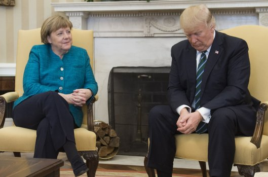 US-GERMANY-TRUMP-MERKEL